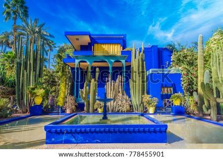 Photo De Stock De Le Jardin Majorelle Marrakech Morocco November