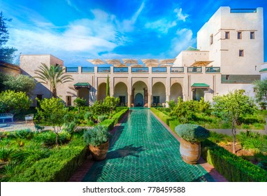 Le Jardin Secret, Marrakech, Morocco - November  13, 2017: Le Jardin Secret, old Madina, Marrakech, Morocco.