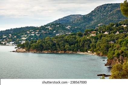 Le Lavandou - sea resort on the Mediterranean coast of France, French Riviera