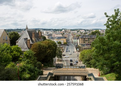 Le Mans, France - August 9: View of the old city centre in Le Mans, France on August 9, 2014.
