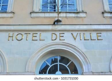 LE MANS, FRANCE - DECEMBER 28, 2017:Hotel de Ville (City Hall) in Le mans,France