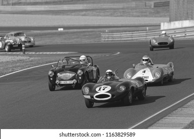 LE MANS, FRANCE, July 8, 2018 : Racing during Le Mans Classic. No other event in the world assembles so many old racing cars in the same place than Le Mans Classic.