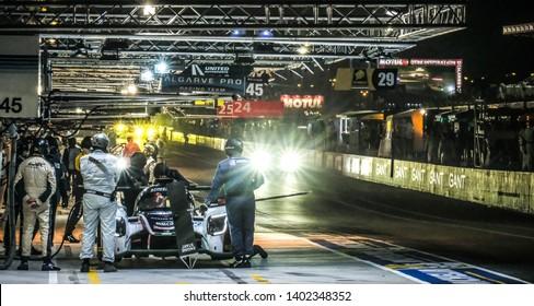 Le Mans / France - June 13-14 2017: 24 hours of Le Mans, Night on Le Mans pit stop