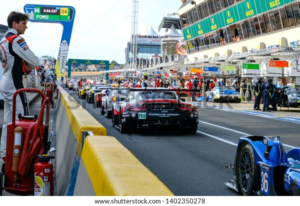 Le Mans / France - June 13-14 2017: 24 hours of Le Mans, on the road of race 24 hours of Le Mans