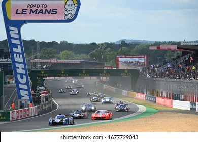 Le Mans / France - June 15-16 2019: 24 hours of Le Mans, Start of race Road to Le Mans Race opening of the 24 hours of Le Mans - France