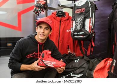 LE MANS - FRANCE, MAY 16: Spanish Honda rider Marc Marquez at 2019 Shark MotoGP of France