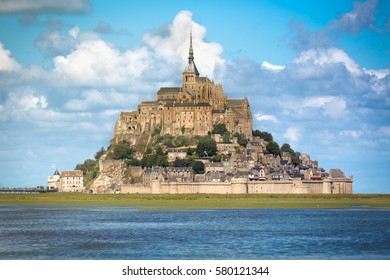 Le Mont St. Michel at a sunny day, Normandy, France