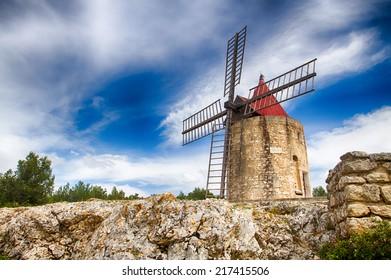 Le Moulin de Daudet in Fontvieille, Provence, France
