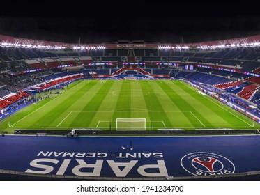 Le Parc des Princes, Paris Saint-Germain home stadium. Paris - 2021