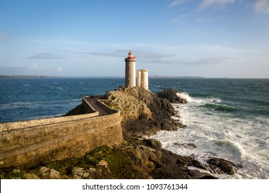 Le Petit Minou lighthouse near Brest city, Bretagne, France