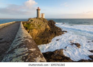 Le Petit Minou lighthouse near Brest city, Bretagne, France