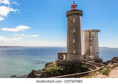 Le Petit Minou lighthouse (Phare du Petit Minou) near Brest city, Bretagne, France