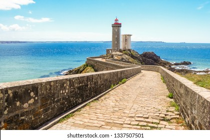 Le Petit Minou lighthouse (Phare du Petit Minou) near Brest city, Bretagne, France
