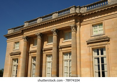 Le Petit Trianon in the park of Versailles Palace