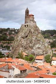 Le Puy en Velay,chapel saint Michell  d'Aiguilhe,  Auvergne, France