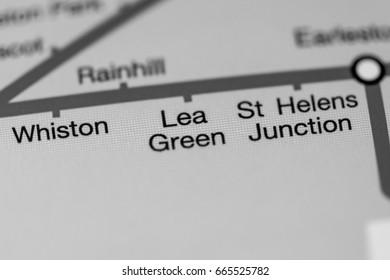 Lea Green Station. Liverpool Metro map.