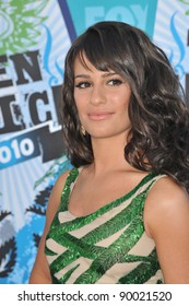 Lea Michele at the 2010 Teen Choice Awards at the Gibson Amphitheatre, Universal Studios, Hollywood. August 8, 2010  Los Angeles, CA Picture: Paul Smith / Featureflash