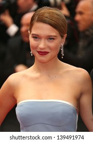Lea Seydoux at the 66th Cannes Film Festival - Jimmy P. Psychotherapy of a plains Indian, Cannes, France. 18/05/2013