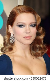 Lea Seydoux attends the EE British Academy Film Awards at The Royal Opera House on 16 February, 2014 in London, England.