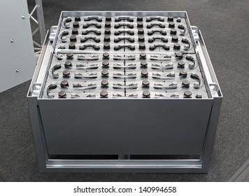 Lead acid  battery pack in frame for forklift