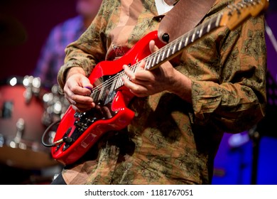 Lead guitar in a jazz concert