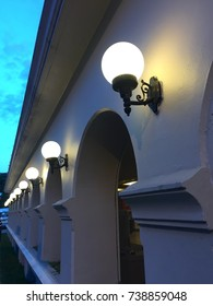 Lead line of wall lamps