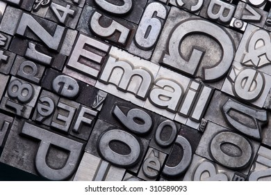 lead type letters form the word email