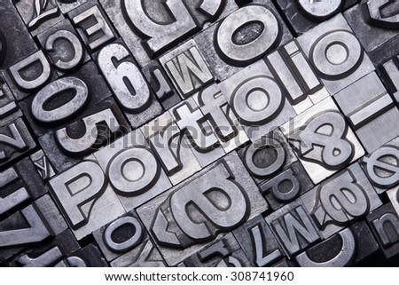 lead type letters form word portfolio stock photo edit now