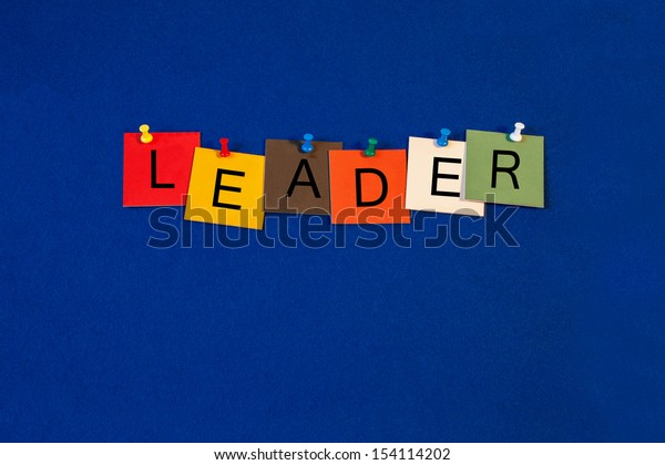 Leader - Business sign terms series