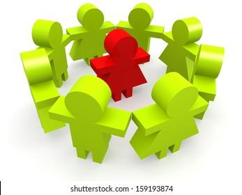 Leader circle