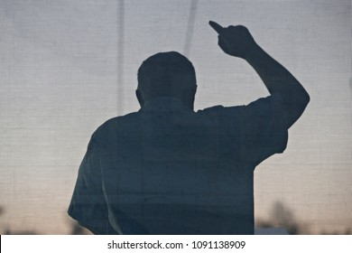 Leader of far-right Golden Dawn party Nikolaos Mihaloliakos delivers a speech during the main pre-election rally outside the party's headquarters in Athens, Greece, September 16, 2015.