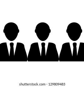 leader ( few successful businessman)