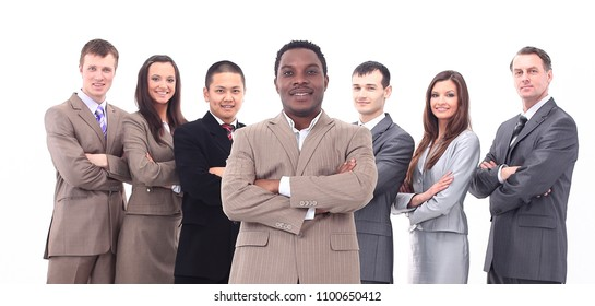 leader and professional business team