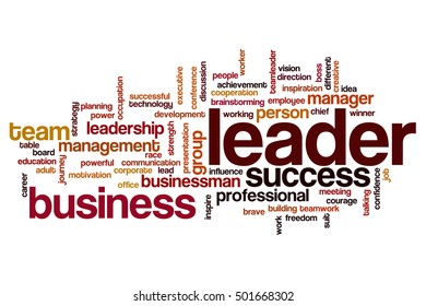 Leader word cloud concept