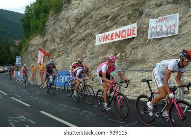the leaders in the Villard de Lans stage - 2004 Tour de France