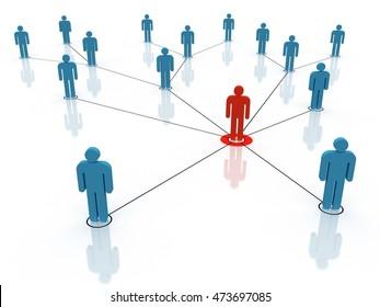 leadership, 3D illustration
