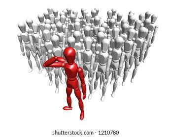Leadership - 3D render