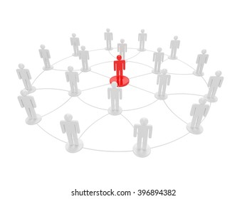 leadership business concept. 3D rendering.