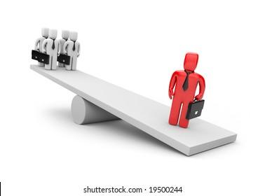 Leadership concept. Business metaphor