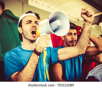 Leading the Italian Supporters, Soccer Championship