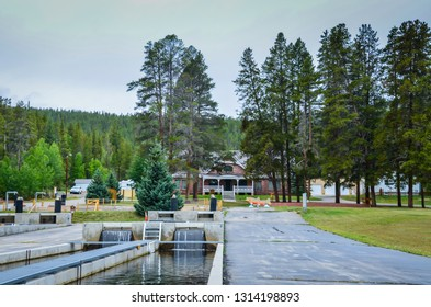 Leadville, CO / USA - 09-03-2014: Second-oldest operating national fish hatchery, and part of  network of field stations to conserve fisheries.