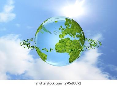 Leaf, the earth