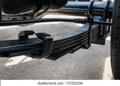 Leaf spring suspension of pick up car truck