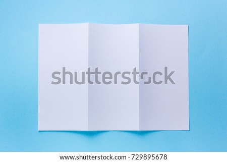 leaflet blank trifold white paper brochure stock photo edit now