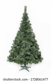 Leafy Christmas tree without colorful decorations