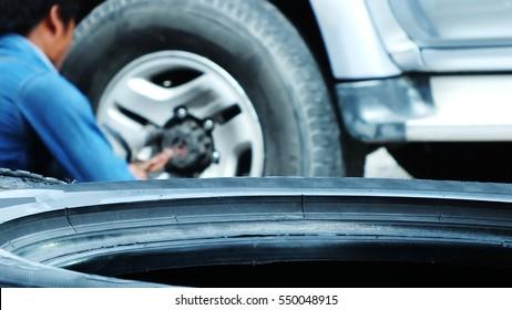 Leak tire is damaged