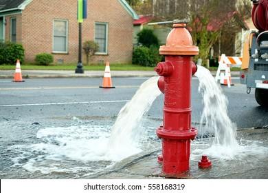 Leaking firehydrant