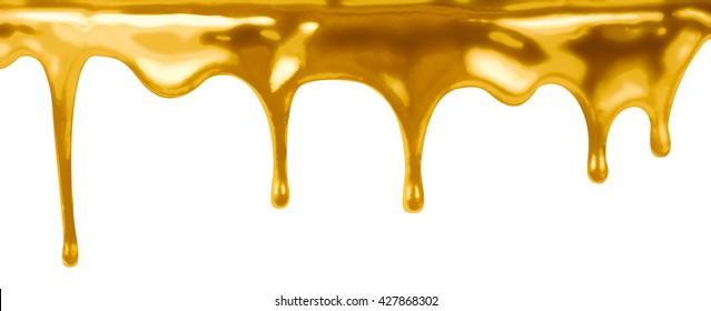 leaking gold isolated on white 3d illustration