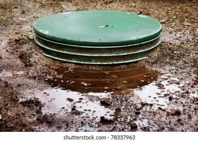Leaks around the locking lids of a septic system's tanks