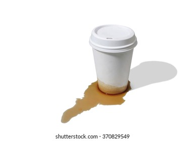 Leaky takeout coffee cup